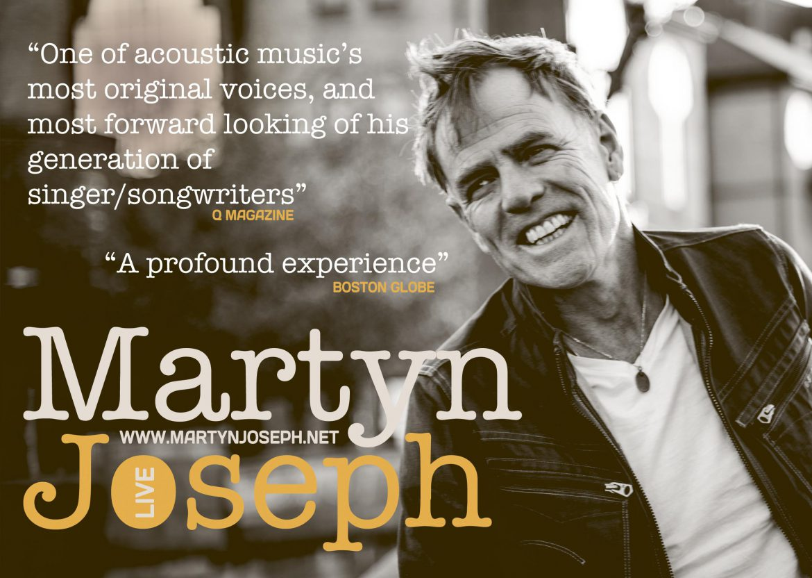 "Martyn Joseph with the new album ""Here Come The Young"""